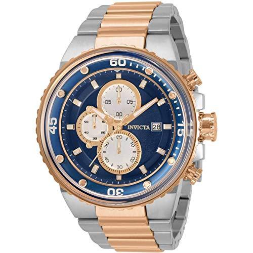 Invicta Pro Diver Reloj cronógrafo de cuarzo con esfera azul para hombre 31523