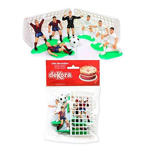 Set de 10 Cake Topper para decoración de Pasteles. Tema de Futbol