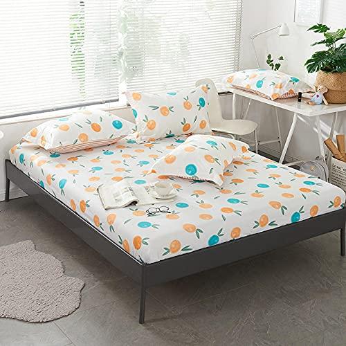 XGguo Protector de colchón Acolchado - Microfibra - Transpirable - Funda para colchon estira hasta Sábana Estampada de una Sola Pieza de algodón-10_150 * 200 + 25cm