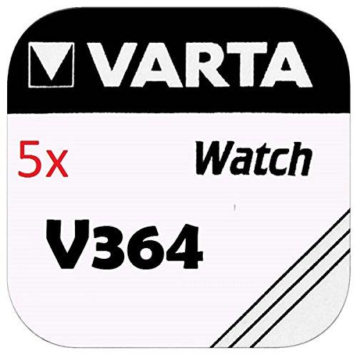 VARTA KNOPFZELLEN 364 SR621SW (5 Stück, V364)