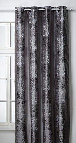 HomeMaison Vorhang 140 x 260 cm Silber