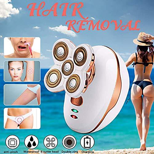 SanyaoDU Elektrisch scheerapparaat voor dames, bikini-lijn, oplaadbaar, razor staal, tondeuse trimmer, cosmetica, draadloze schoonheid, 110-240 V, wit