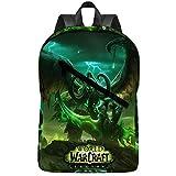 World of Warcraft Legion Laptop Backpack College Students Bookbags Travel Notebooks Daypack for Men Women Kids Boys Girls