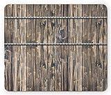 Rustikales Mauspad Bild von Holzbrettern mit Schrauben und Nägeln Bauernhaus-Thema Blockhausdruck...