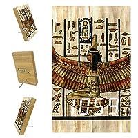 寝室用デジタル目覚まし時計キッチンオフィス3アラーム設定ラジオ木製卓上時計-古代美術エジプト美術
