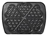 lagrange Heart Waffles Plate Set for Premium Black Waffle Iron
