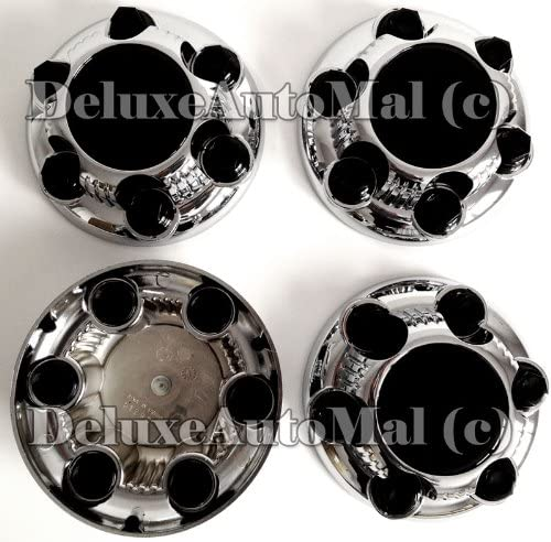 DeluxeAuto 6 LUGS New Chrome mart Wheel Center NEW before selling ☆ of Com Caps Set is 4