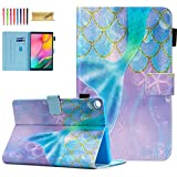 Dteck Galaxy Tab A 10.1 Case 2019 Tablet SM-T510/T515, [Vibrant Colors Design] Slim PU Leather Folio Stand Cover with Magnetic Clasp for Samsung Galaxy Tab A 10.1 Inch SM-T510, Mermaid Pincess