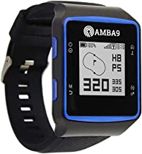 Amba9 GPS Golf Watch - Rangefinder with Preloaded Courses, Step Tracking, Distance to Hole Measurements, and Par Info - Lightweight, Black