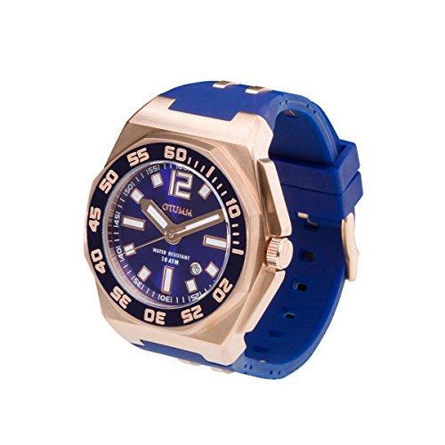 OTUMM Sports Calender 08723 Herren-Armbanduhr XL 45mm (analog) - Blau
