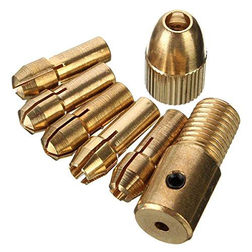 Ils - 8 stuks 0.5-3 mm Micro Twist boorhouder set kleine elektrische boor Collet met inbussleutel