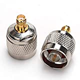 TLS.eagle N Male to SMA Female Connector RF Coax Coaxial Adapter Pack of 2