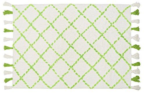 Aratextil. Tapis pour enfant 100% coton lavable en machine à laver Collection berbère Tanger Vert 120 x 160 cm