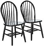 Winsome 29836 Windsor 2-PC Set RTA Black Chair