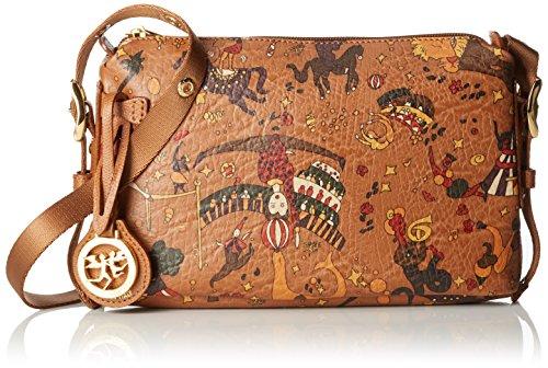 piero guidi Magic Circus, Borsa a Tracolla Donna, Beige (Cannella), 24x15x6.5 cm (W x H x L)