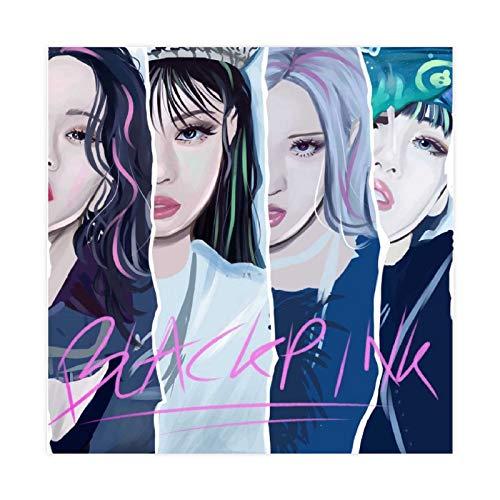 Kpop Poster Blackpink Art Canvas Poster Wall Art Decor Cuadro Cuadro Cuadro Cuadro...
