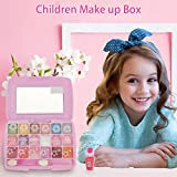 ZIEM Paleta de Maquillaje Real para niñas Kit de Maquillaje Lavable Kit de Juego de cosméticos para niños Juego de Maquillaje para niñas no tóxico