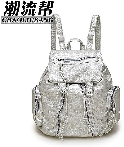 Meine Damen Umh etaschen Stra koreanische Edition Tasche l ig Taschen Rucksack reisen, Silber