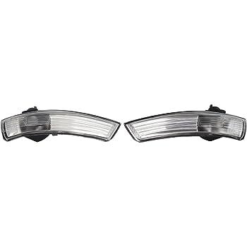 Negro SYWAN Un par de luz de se/ñal de Giro LED din/ámica Espejo Lateral Indicador para Ford Focus 2008-2016