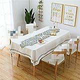 Zhuo Qun Shang Mao Einfache Dicke Baumwolle und Leinen Tischdecke wasserdicht runden Tisch...