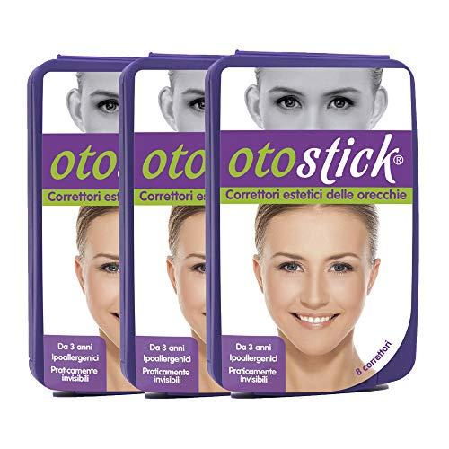 Otostick Pack - 3 | Correttore per Orecchie a Sventola | Contiene 24 correttori | A partire dai 3 anni d'età.