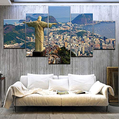 VTootkl modulare 5 teiliges Moderne Dekoration leinwand Rio de Janeiro, Brasilien Moderne Kunst Home Decor