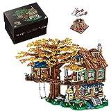 Goshfun 4761Pcs Street View Tree House Bricks Model Set, MOC DIY Building Block Assembly Mini Particle Construction Toy (Not Compatible with Standard Bricks)