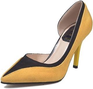 LaBiTi Womens Pointed Toe High Heel Pumps Slip-on Pumps Wedding Party Pumps Shoes
