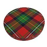 Funda De Cojín para Silla De Bar Redonda Scots Style Clan Boyd Tartan Plaid Barra Redonda Funda De Cojín para Silla Funda De Asiento Suave Antideslizante Protector Elástico