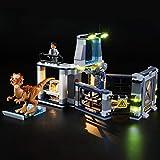 mnvoa kit di illuminazione a led per lego jurassic world l'evasione dello stygimoloch, compatibile con il modello lego 75927 mattoncini da costruzioni (non incluso nel modello)