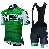 VFGSB Hombres Jersey + Pantalones Cortos Mangas Cortas de Ciclismo Ropa Maillot Transpirable para Deportes al Aire Libre Ciclo Bicicleta