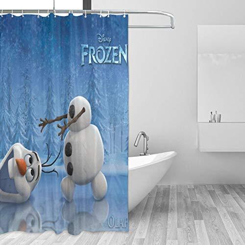 Frozen Olaf Duschvorhang – 167 x 183 cm, langlebig, wasserdicht, Badvorhang mit 12 Haken