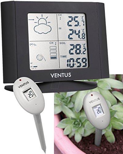 Ventus Funk-Wetterstation W263, inkl. Bodenfeuchte und -temperatur Sensor