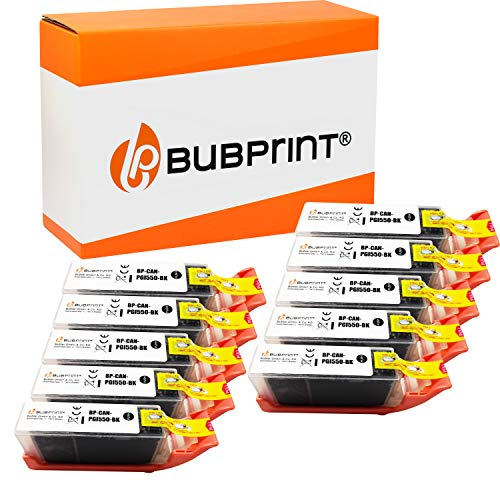 Bubprint Kompatibel Druckerpatronen als Ersatz für Canon PGI-550 XL PGBK für Pixma IP7200 IP7250 IX6850 IP8750 MG5450 MG5550 MG5650 MG6350 MG6450 MG6650 MG7150 MG7550 MX 725 920 925 Schwarz 10er-Pack