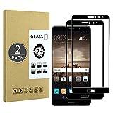 E-Hamii Película Cobertura Completa Compatible con Huawei Mate 9[Negro],[Pantalla Completa Pegada][Antiarañazos] Cubierta Protectora Vidrio Templado Premium 9H Premium,para Huawei Mate 9