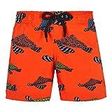 Vilebrequin Boys Swimwear Stretch Turtle Swim NESPOLA - Arancione - 10ANS