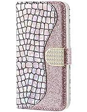 Ttimao Compatible con Funda Samsung Galaxy A11 Prima Glitter PU Cuero Wallet Caso Cierre Magnético Ranura para Tarjetas Kickstand Antigolpes Flip Cubierta-Plata