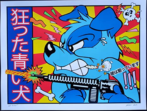 Blue Dog Art Print 2020 Frank Kozik A/P Edition Beastie Boys