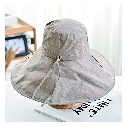 GY Faltbarer Sonnenhut, Verstellbar Uv-Schutz Großer Rand Baumwollmaterial Einfach Outdoor-Reisen,B,OneSize