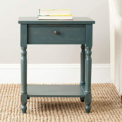 Safavieh American Homes Collection Tami Steel Teal Accent Table