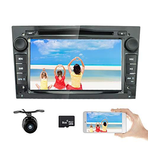 Freeauto Radio estéreo para coche de 7 pulgadas, doble DIN en tablero para Opel Corsa 2006-2011/Vectra 2005-2008/Antara 2006-2011/Vivaro 2006-2010, reproductor de DVD FM/AM (negro)