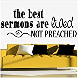 Wall Stickers The Best Sermons Religion Quote Vinyl Wall Decal Church Home Decor