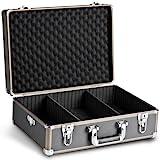 Mantona Basic M Foto-Koffer (inkl. 2 Trennstegen, zusätzlilcher Schaumstoffblock, abnehmbarer Tragegurt & 2 Schlüsseln) schwarz/braun