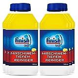 Finish Maschinentiefenreiniger Citrus – Flüssiger Maschinenreiniger gegen Kalk und Fett für eine saubere Spülmaschine – Sparpack mit 6 x 250 ml Maschinenpfleger mit Zitronenduft