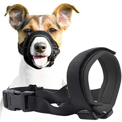 GoodBoy Maulkorb für Hunde – Verhindert sicher Bisse und ungewolltes Kauen – Neuer sicherer bequemer Sitz – Weiche Neopren Polsterung – Kein Wundscheuern mehr (M, Grau)