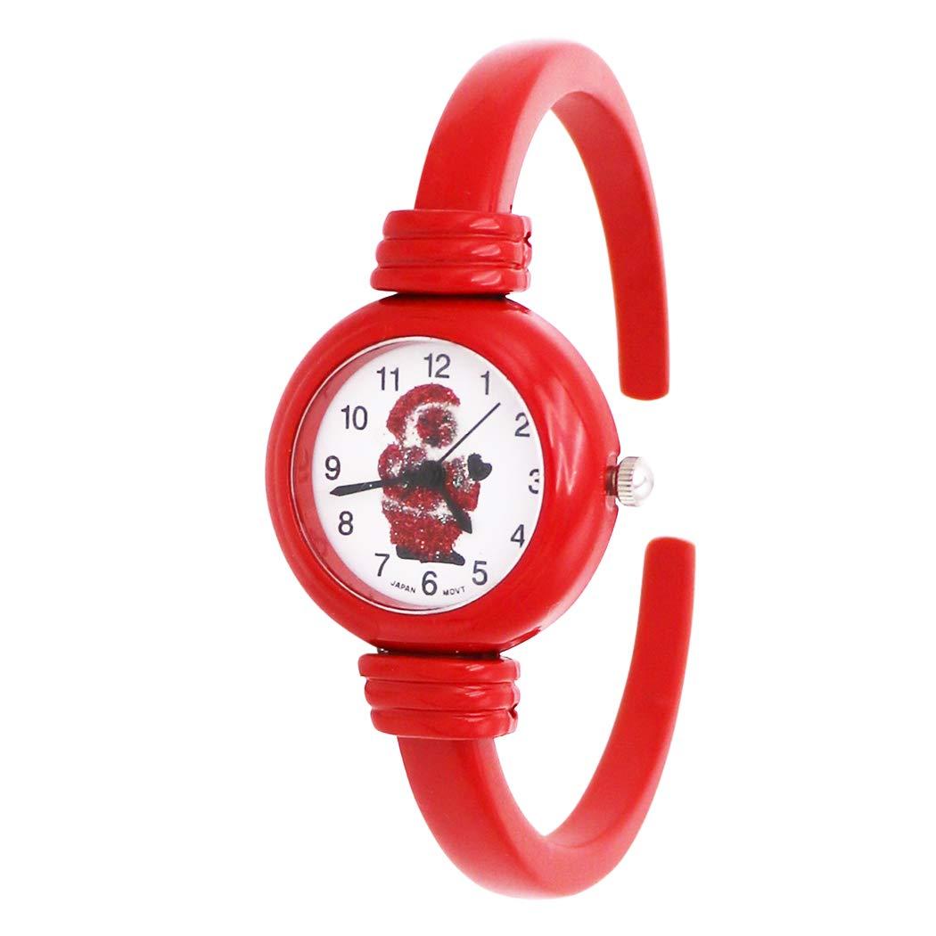 Rosemarie Collections 女式红色珐琅假日圣诞老人袖口手表