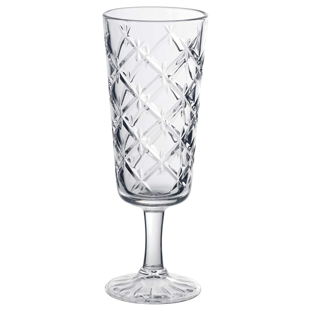 FLIMRA Champagne glass clear glass patterned