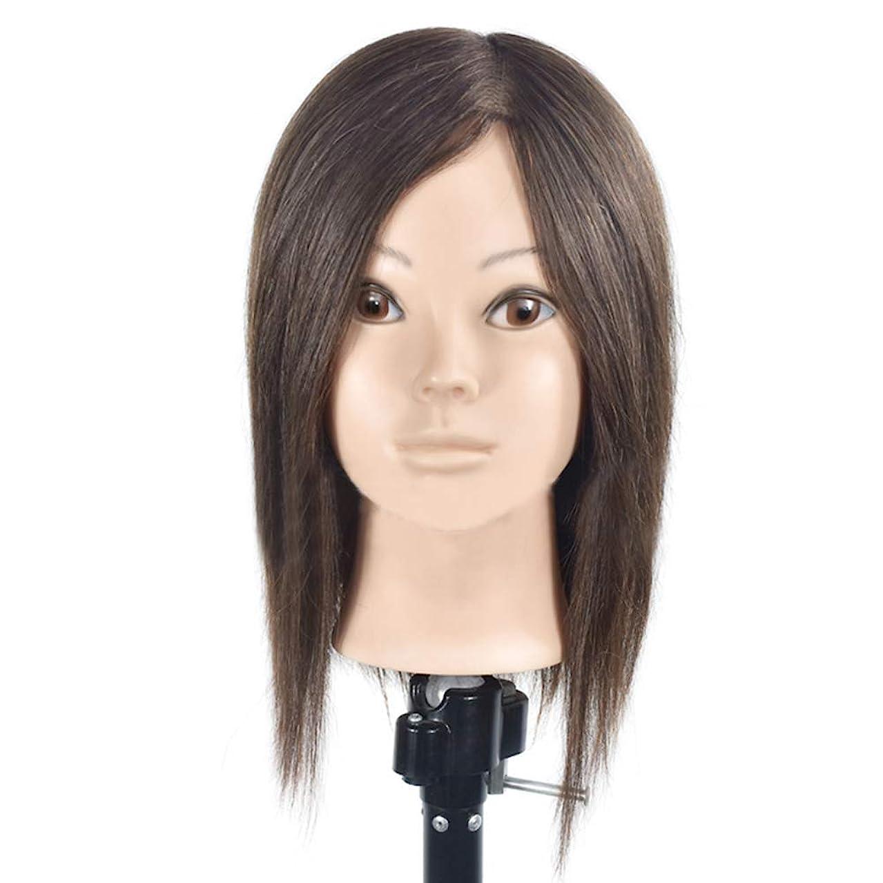 前投薬方言逸話本物の人間の髪のかつらの頭の金型の理髪の髪型のスタイリングマネキンの頭の理髪店の練習の練習ダミーヘッド