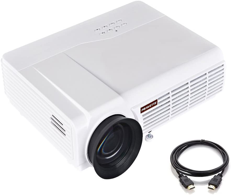 Max 90% OFF Portable Projector Special price for a limited time PRAVETTE Movie Video Support 10 HD