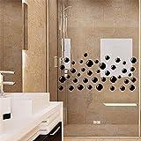 stickers muraux blanche neige Bulles de savon pour la salle de bains autocollant mural